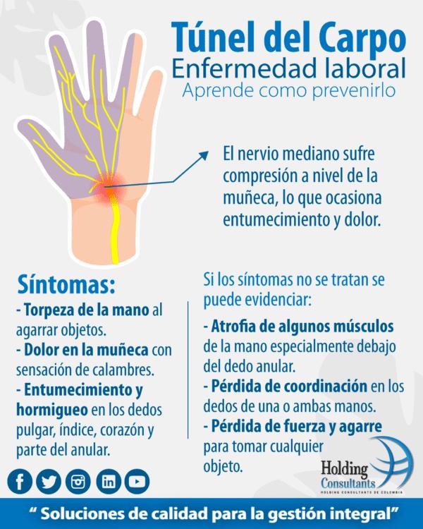 Infografía Túnel del carpo Holding Consultants de Colombia